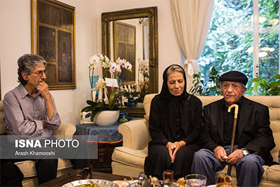 عکس و فیلم حضور عزت الله انتظامی در منزل داوود رشیدی