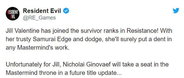 صفحه رسمی Resident Evil در Twitter اعلام کرد شخصیتهای جدیدی به Resident Evil Resistance میآیند . . .