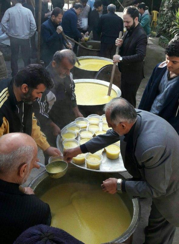 پخت-شله-زردی-یک-و-نیم-تنی-در-طاهر-گوراب-صومعه-سرا-عکس