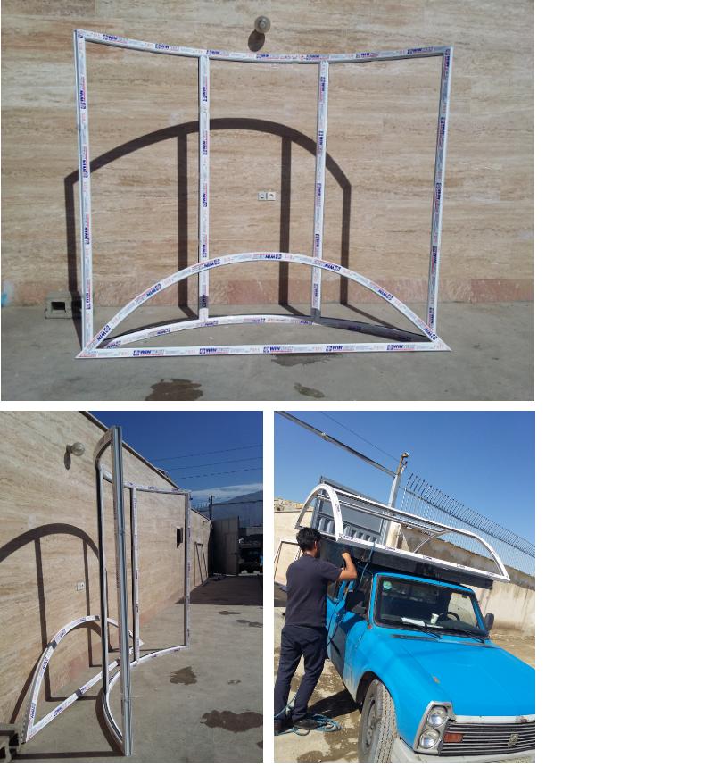 خم انواع پروفیل upvc و مونتاژ در محدوده کرج شهریار- پنجره هلالی- قوس خم زاویهدار سینوسی -دایره