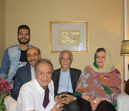 عکس خانوادگی منصور پورحیدری