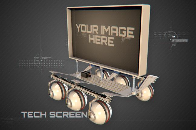 jl8a tech screen - مجموعه مدل سه بعدی تجهیزات الکترونیک و تکنولوژی C4D