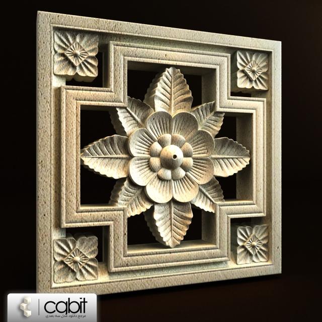 jogu carving 020b - مدل سه بعدی پنل کنده کاری کلاسیک