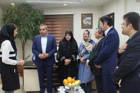 اعطای حکم نایب رییسی بخش بانوان به سرکار خانم سعید پور