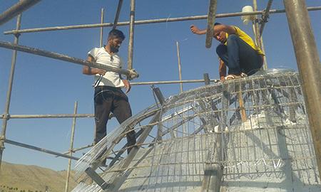 آغاز مرحله دوم بازسازی آستان مقدس امامزاده سید محمد(ع) روستای باغشجرد