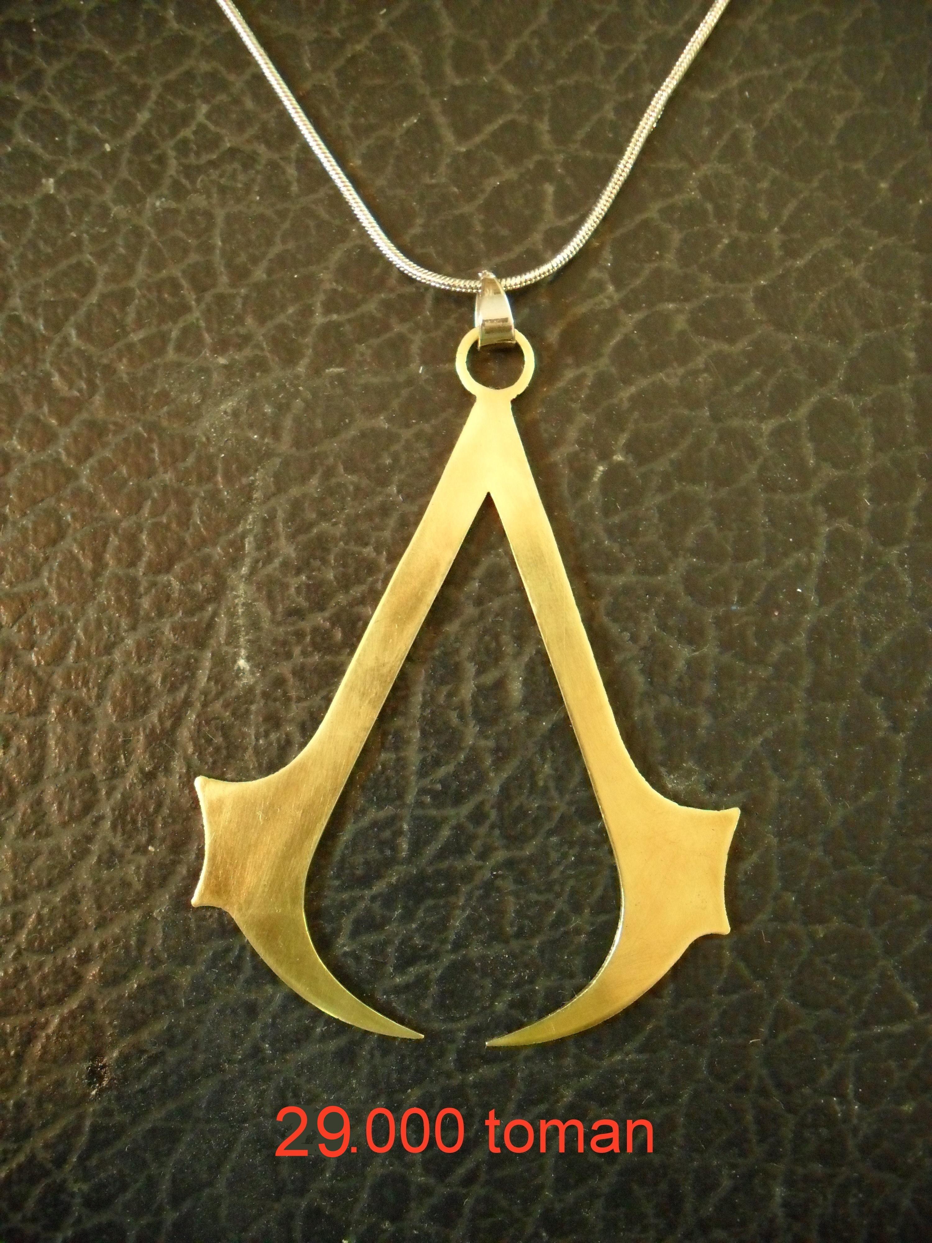 فروش گردنبند طلایی رنگ اساسین sell necklace assassin