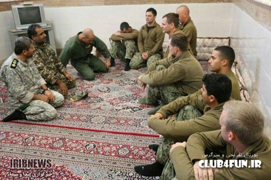 تصاویر جدید از 10 نظامی آمریکایی در ایران