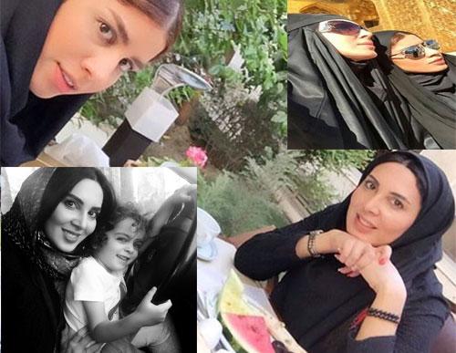 لیلا بلوکات در کنار خانواده اش