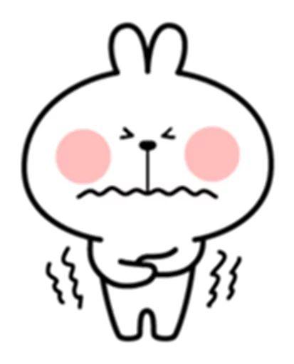 استيكر خرگوش لاين براي تلگرام
