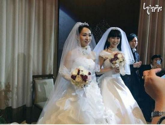 ازدواج دو دختر ژاپنی با یکدیگر ، همجنس گرایان ، ازدواج همجنس گرایی