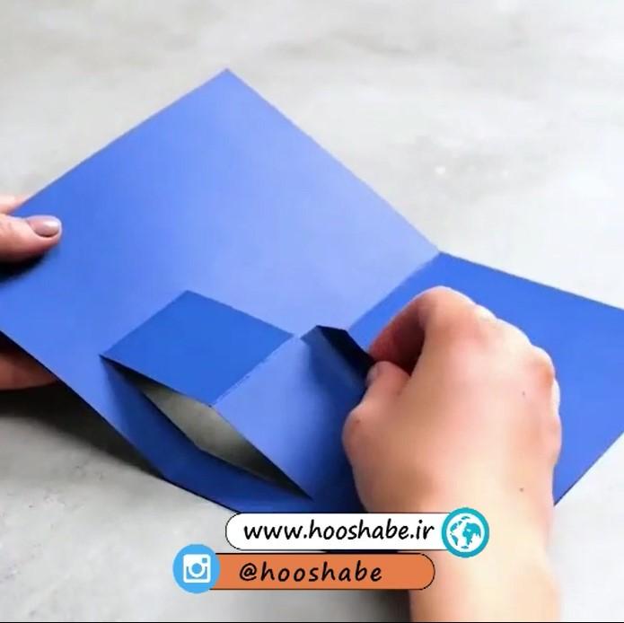 مرحله دوم ساخت هدیه کارت پستالی