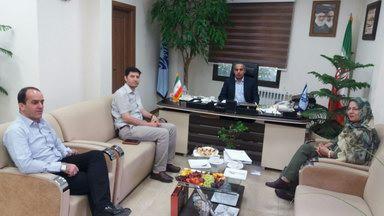 دیدار رییس و دبیر هییت با ریاست اداره ورزش وجوانان شمیرانات