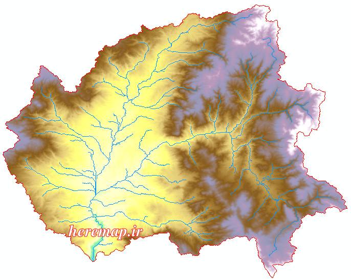 نقشه های GIS حوزه آبخیز رود خانه هیرو چای استان اردبیل