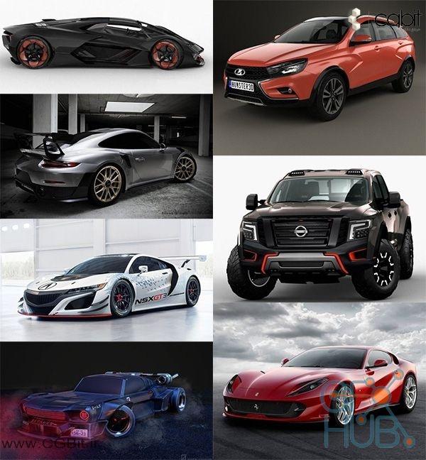 m3b6 1540404960 car 3d model bundle 2018 vol  2 - کالکشن مدل سه بعدی ماشین 2018 - vol2