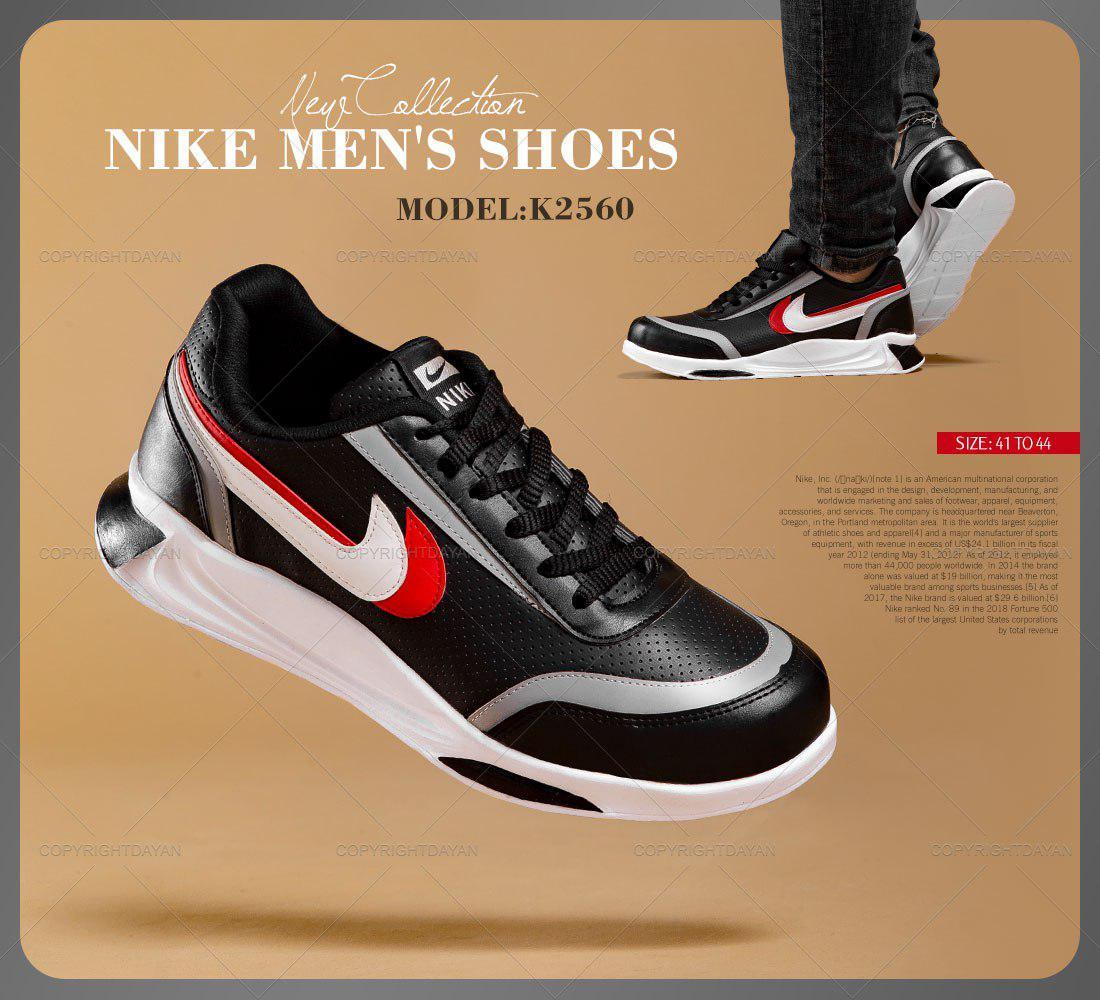 کفش مردانه نایک Nike مدل K2560 (مشکی)
