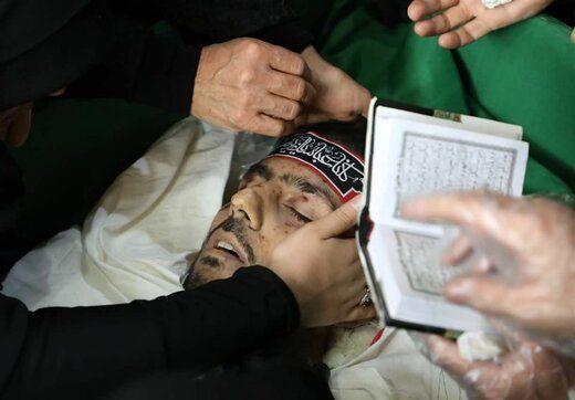 تصویر پیکر یکی از همرزمان نزدیک حاج قاسم سلیمانی که توسط داعش به شهادت رسید (دانش یاران)