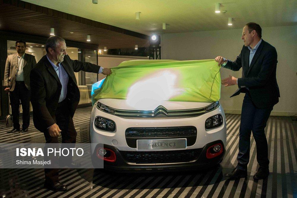 سیتروئن C3 محصول جدید سایپا در مراسمی رونمایی شد
