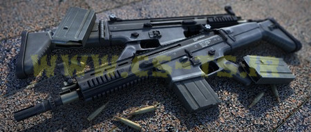 دانلود اسکین زیبای اسلحه ای SCAR-H Reborn! (زوم کن ) برای کانتر گلوبال افیس