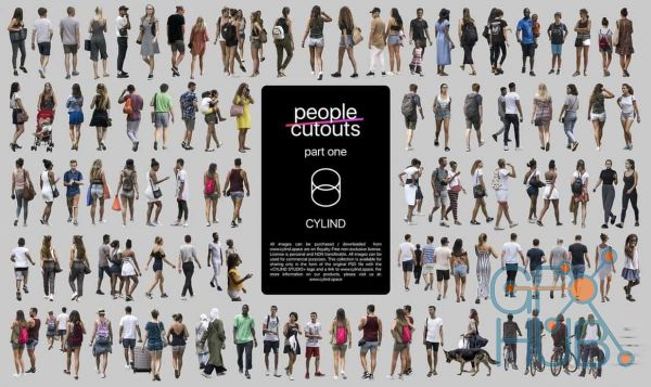 nce3 1540547578 people cutout cylind studio - مجموعه مدل سه بعدی انسان حالات مختلف