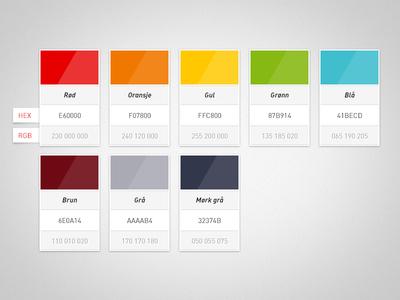 استفاده و تاثیرات رنگ ها در طراحی سایت