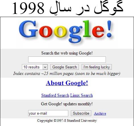 گوگل در 1998