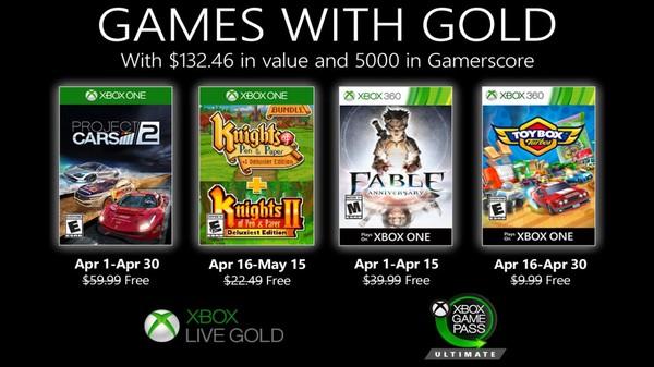 بازیهای رایگان ماه آپریل 2020 سرویس Xbox Live GOLD معرفی شدند