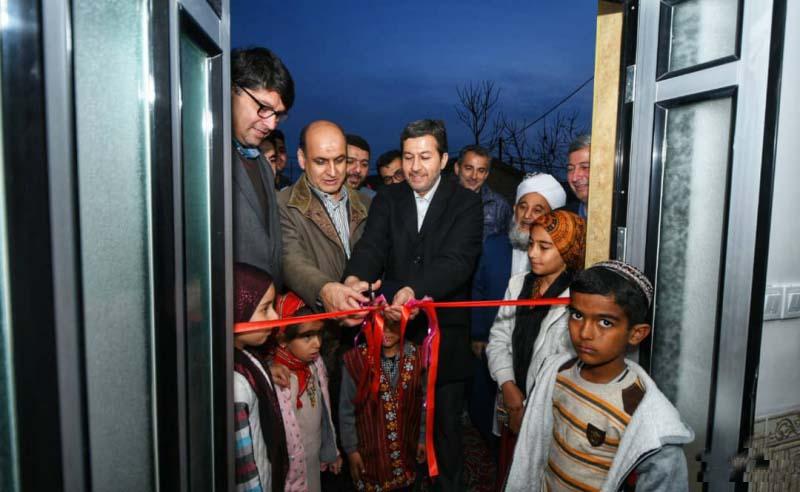 افتتاح یک واحد مسکونی آسیب دیده از سیل در آق قلا