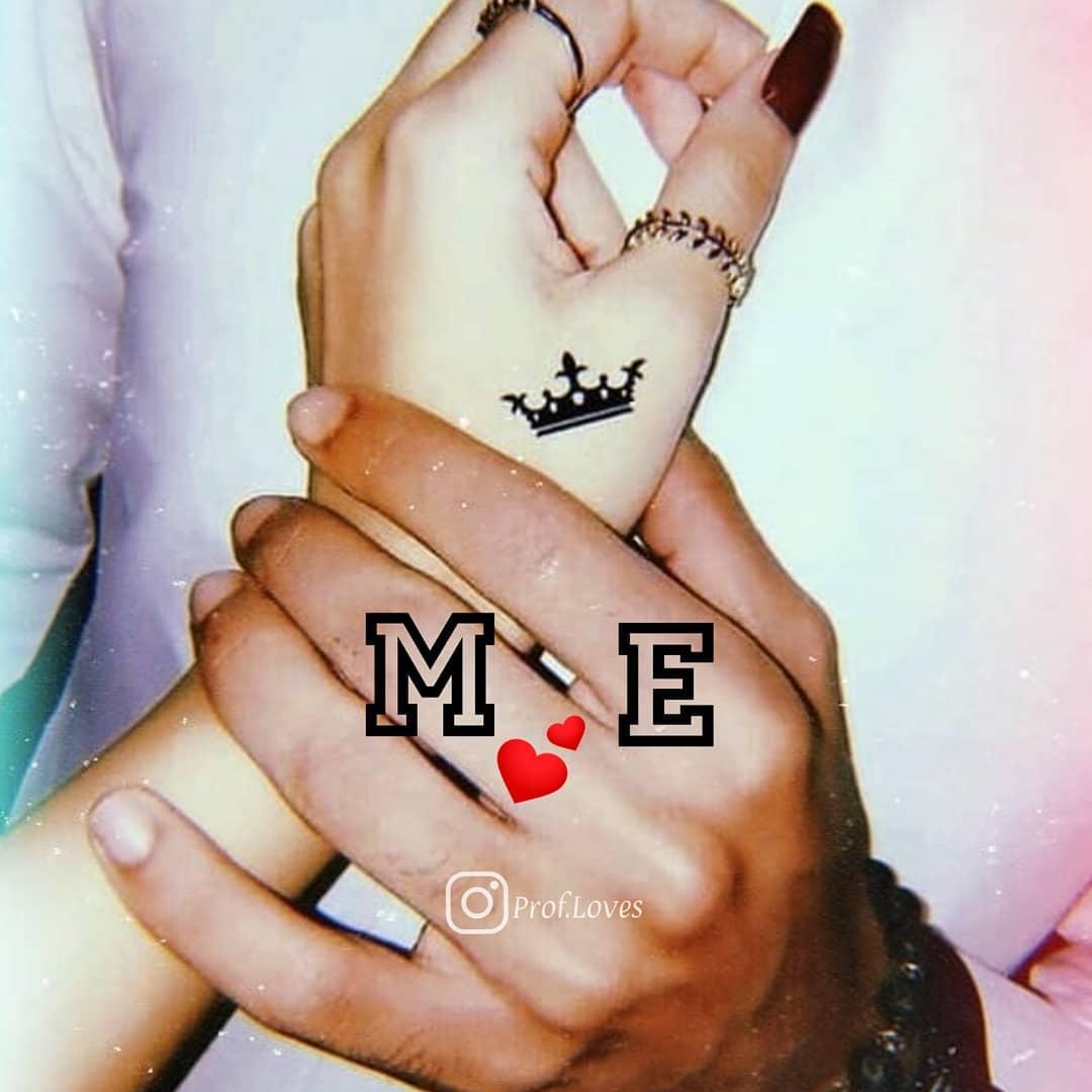 حرف m و e