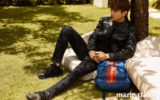 عکس های Min ho بر مجله MARIE CLAIRE.