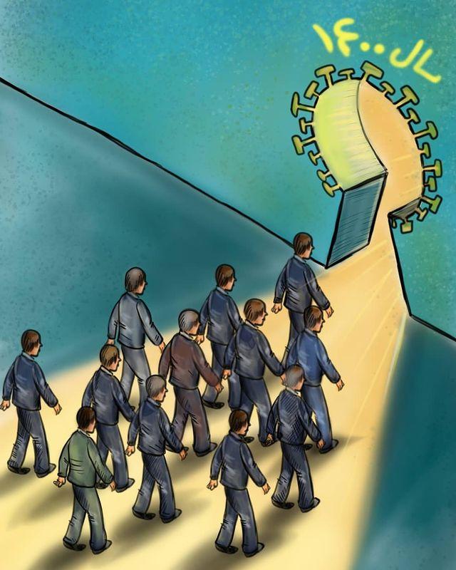 سال ۱۴۰۰/ کارتون فاصله گذاری اجتماعی