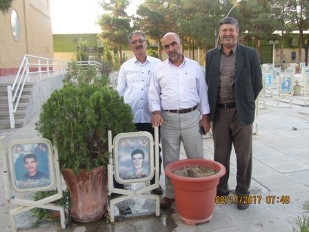 حضور اعضای ستاد یادواره در گلستان شهدای اصفهان