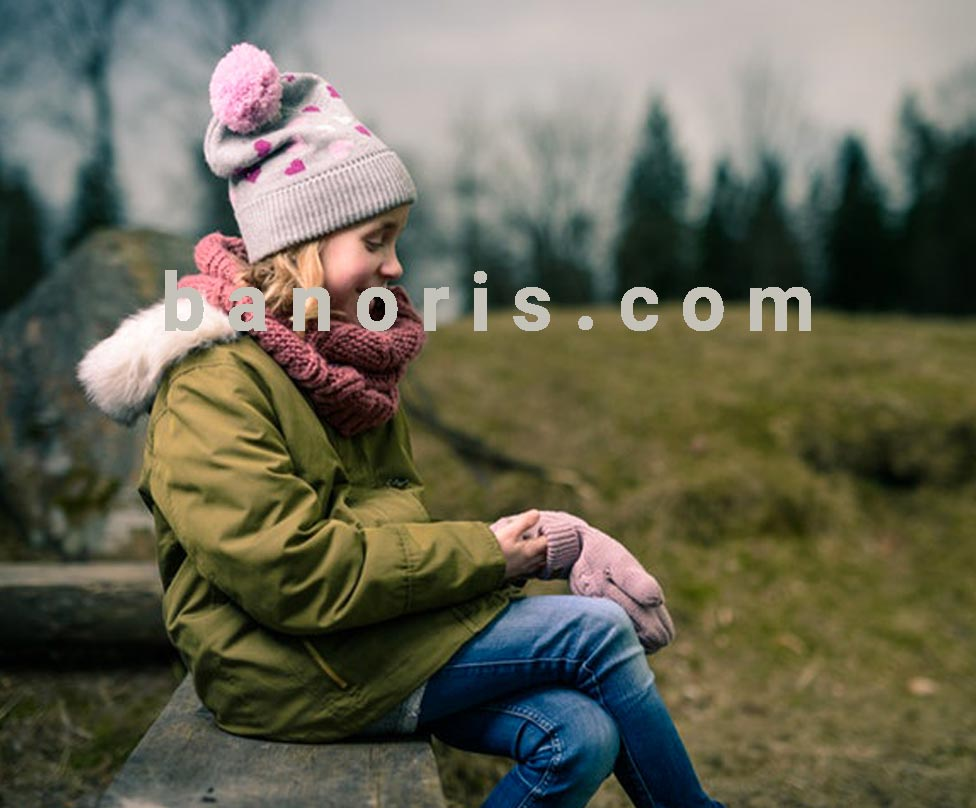 عکس زمستانه کودکانه