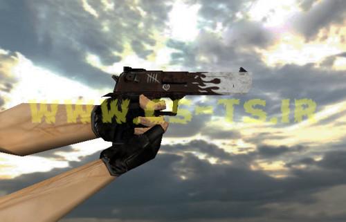 دانلود اسکین زیبای اسلحه ای deagle_oxide_blaze برای کانتر 1.6