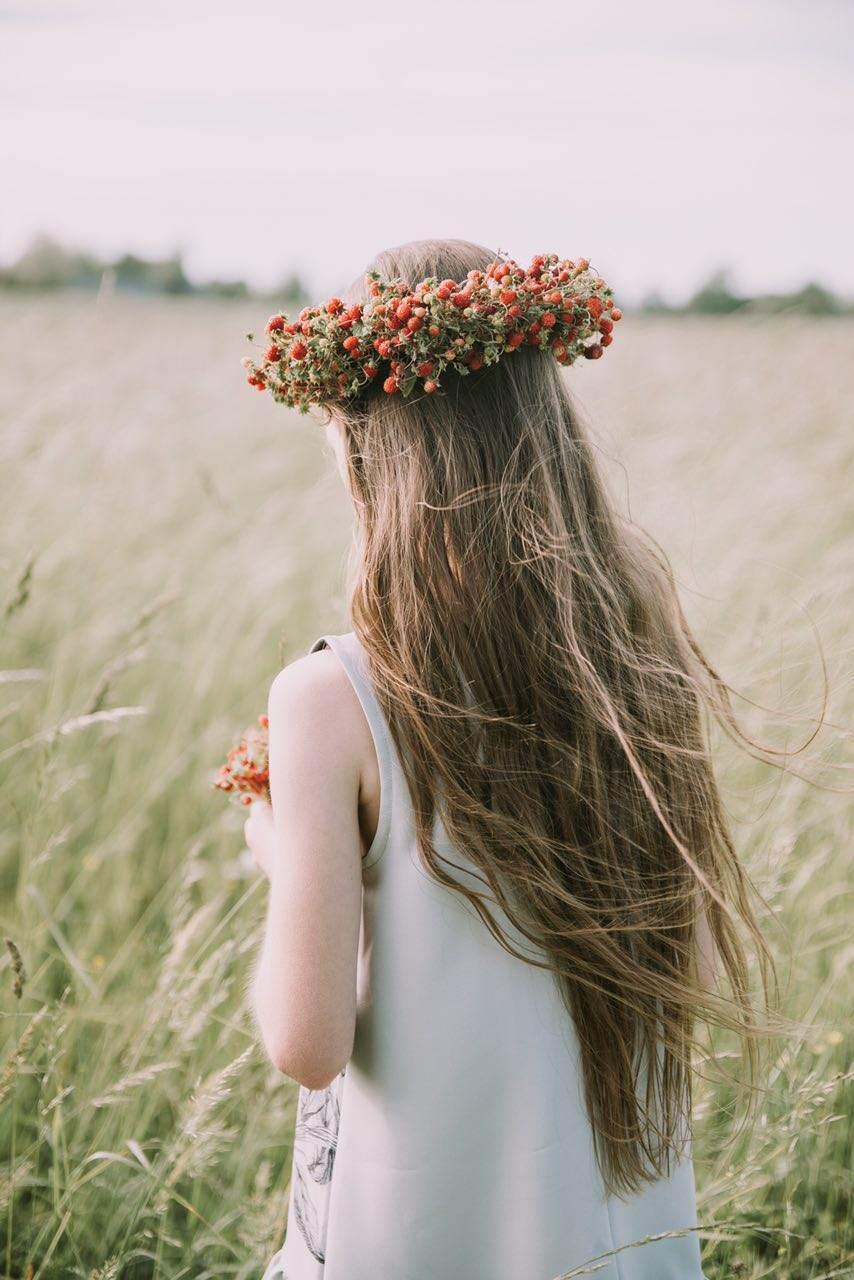 عکس زن با موهای بلند