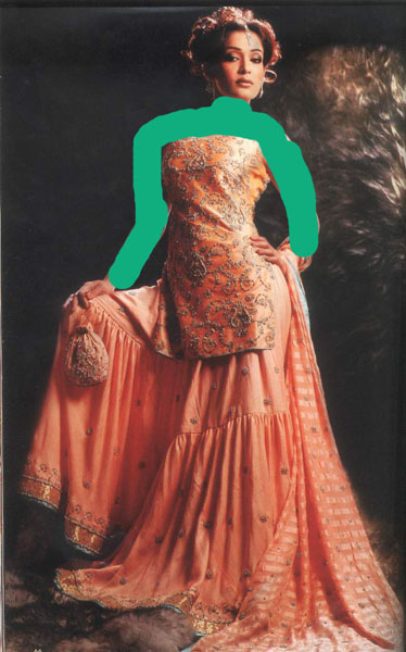 [تصویر: مدل لباس هندی]