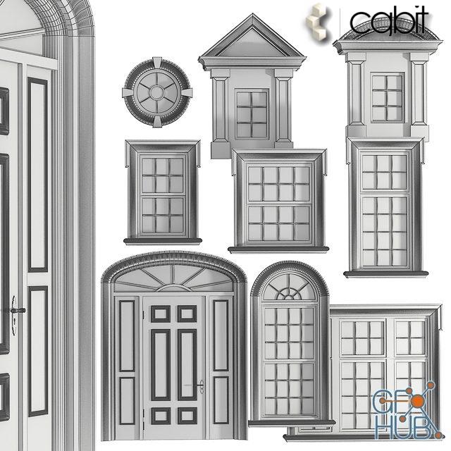 pb8q 1548235629 english classics windows and doors 2 - مجموعه آبجکت در و پنجره کلاسیک