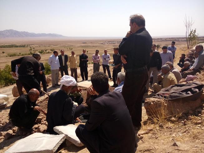 مراسم تشییع وتدفین شادروان حاجی حسن زاده