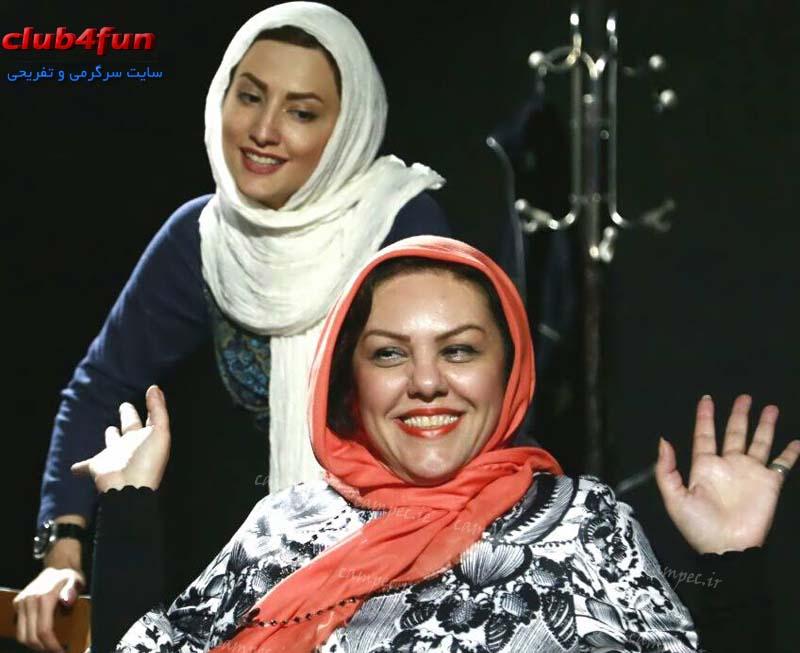 عکس های سمیرا حسینی و افسانه چهره آزاد در تمرین نمایش تئاتر