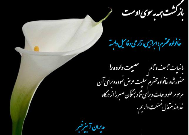 در آغازین روز پاییزی خزان عمر مادری مهربان