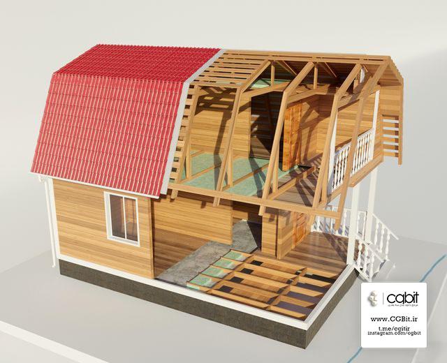 pno9 1537077583 unfinished house - مدل سه بعدی خانه چوبی نیمه کاره 3dsMax, Corona
