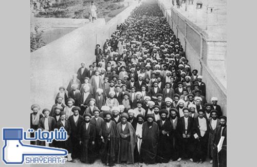 تجمع آخوندها در سال ۱۳۰۰ مقابل سفارت انگلیس برای پناهندگی و فرار از رضاخان !! / شایعه ۰۵۹۰