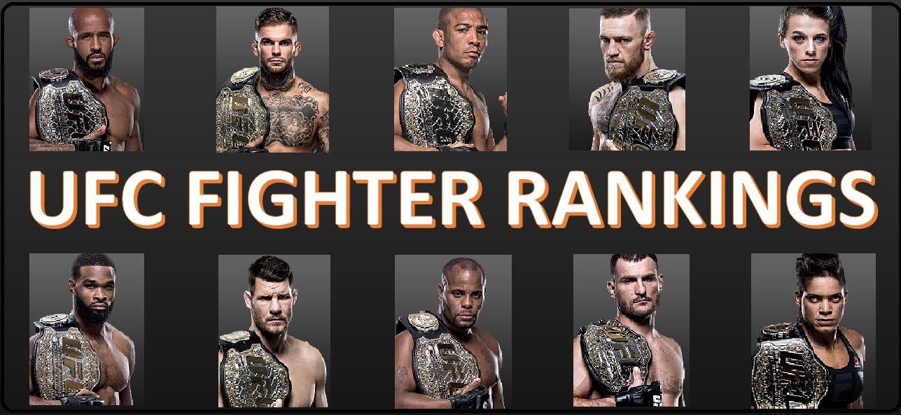 آخرین رنکینگ UFC تا 2 ژانویه 2017 (بعد ازufc 207 )