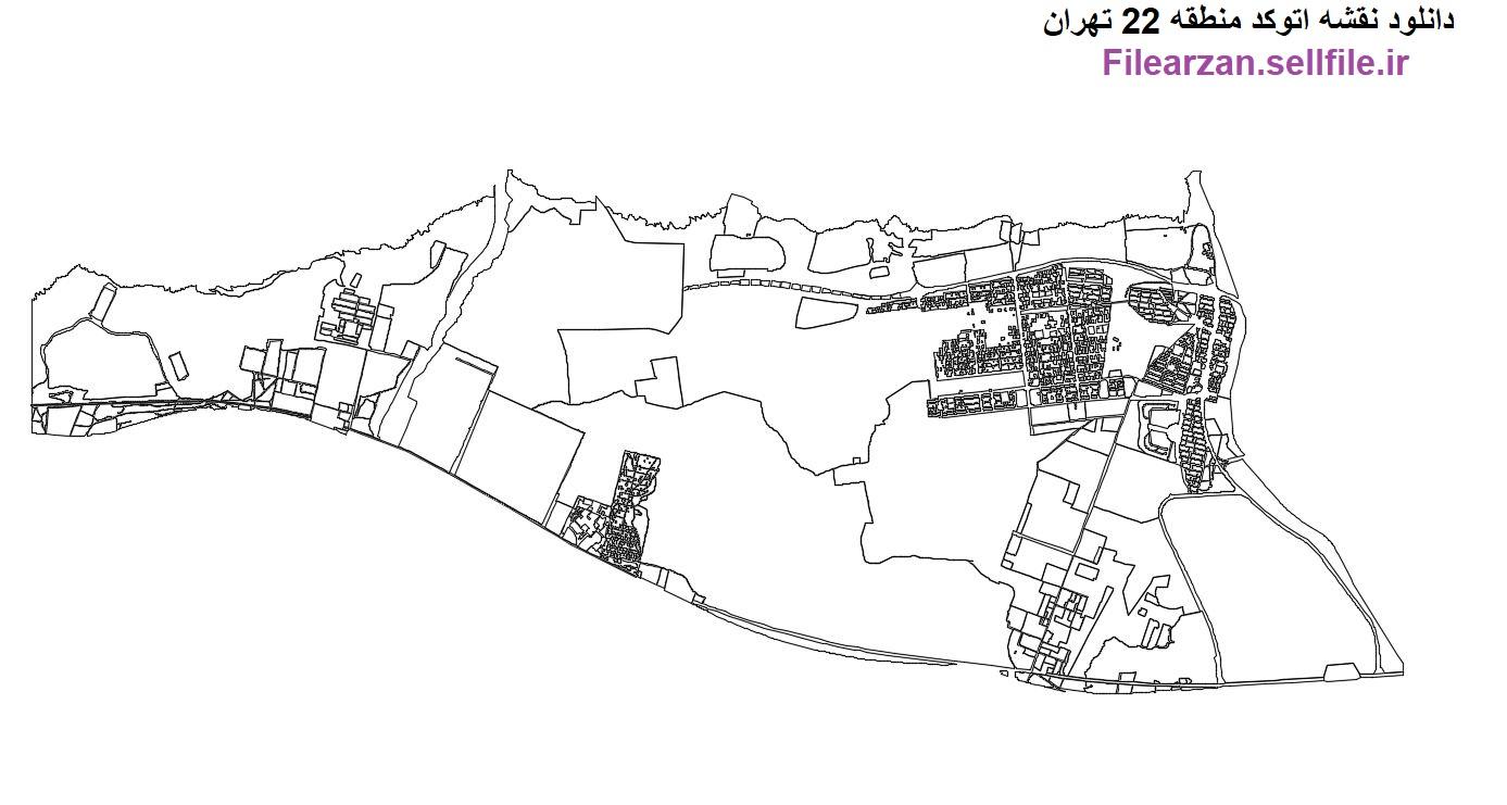 دانلود نقشه کد منطقه 22 تهران