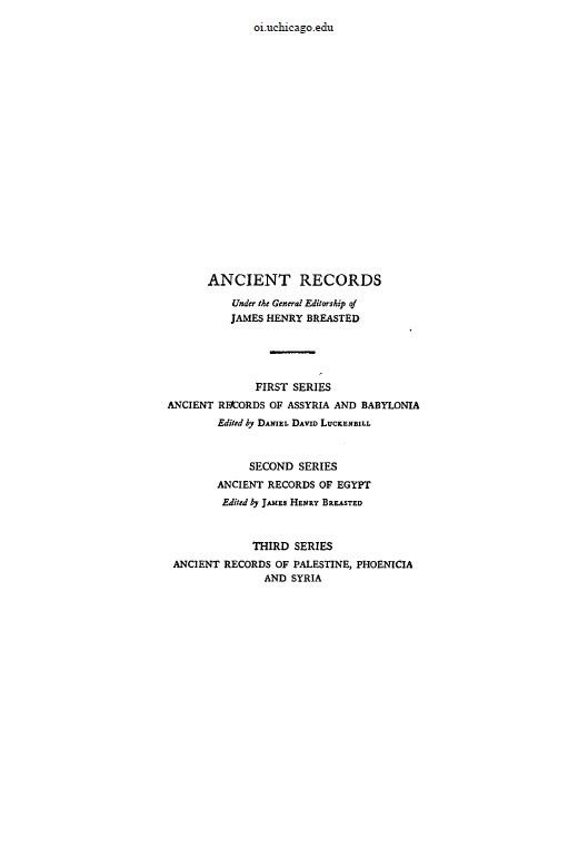 Cover of Ancient Records