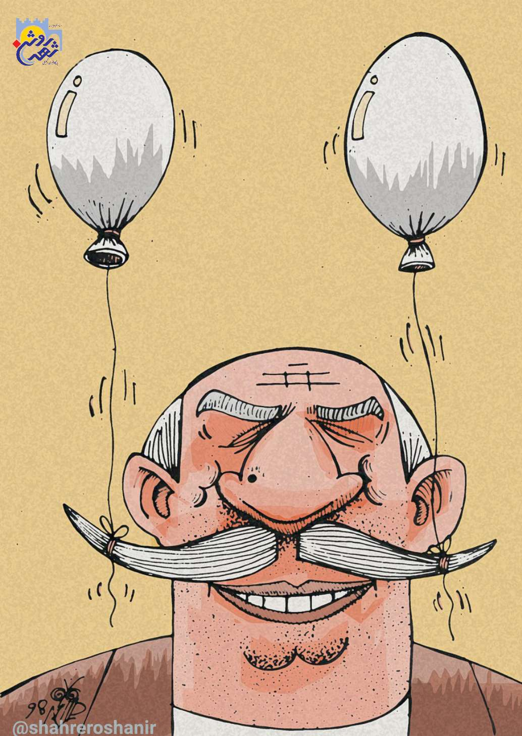 """کارتون """"هویت پوچ"""" اثر فخرالدین دوست محمد"""