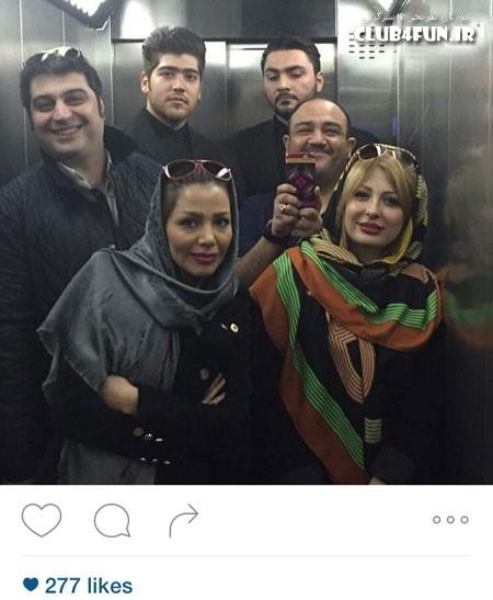 سلفی آسانسوری مهران غفوریان و دیگران