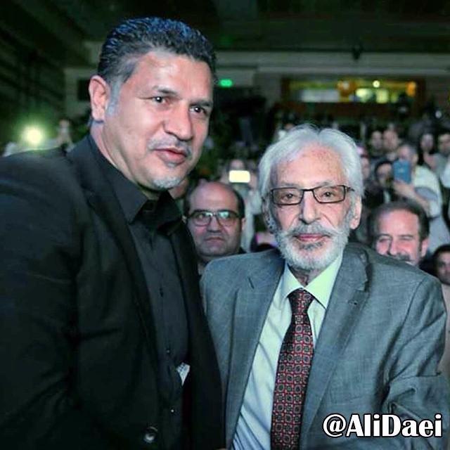 علی دایی در کنار استاد جمشید مشایخی