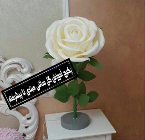 گل فومی بزرگ پایه دار