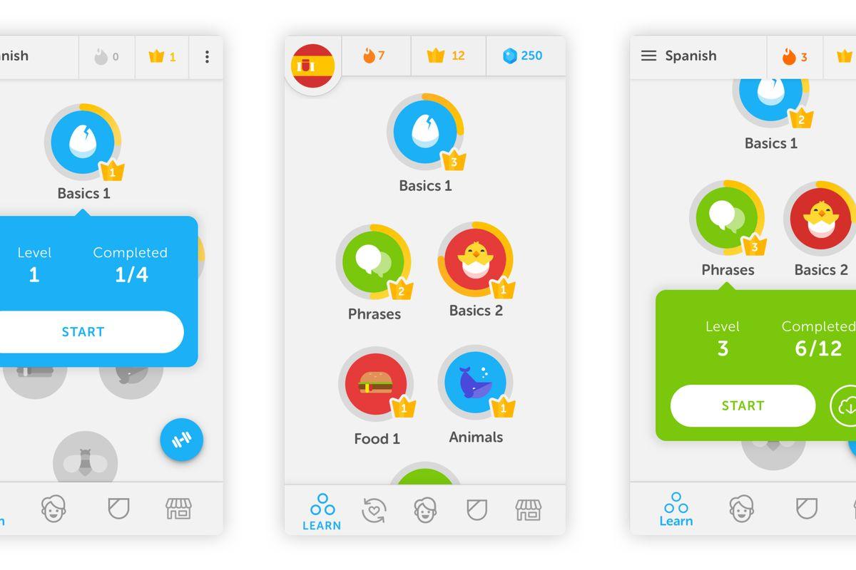 دانلود نرم افزار اموزش زبان انگلیسی Duolingo APP Mod 4.90.2