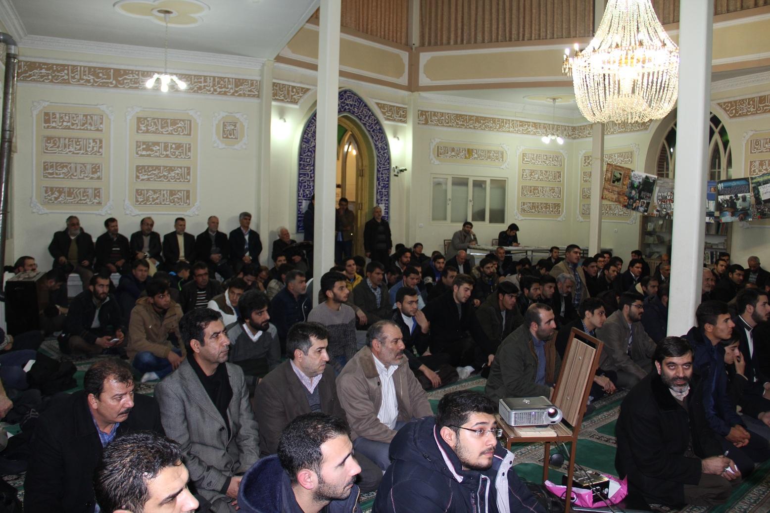 مراسم بزرگداشت 9 دی ، مسجد آقا علی اشرف ، عکس ، وحید جلال زاده ، انتخابات ، ارومیه ، اخبار ارومیه ،